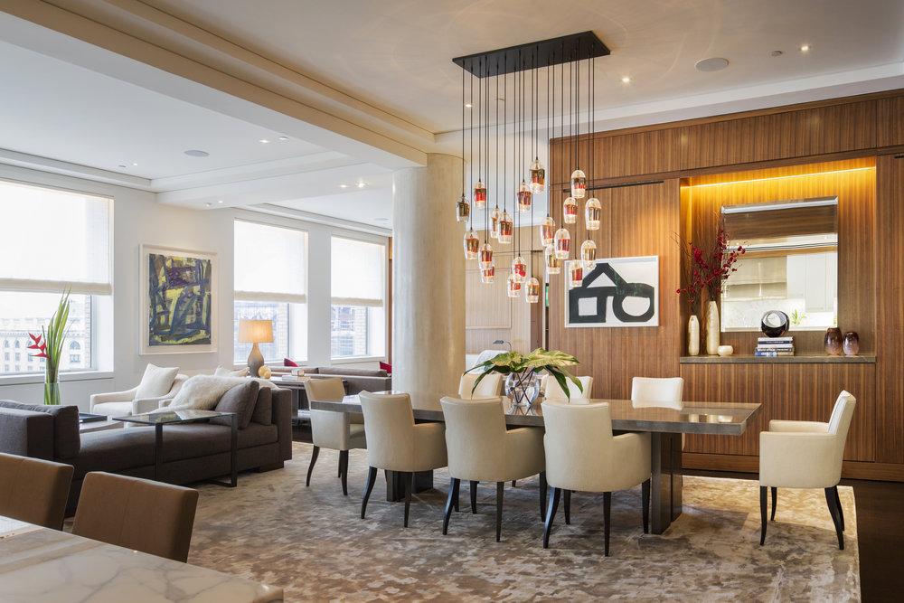Artists: Louise Fishman, Al Held,Interior Design: Campion Platt, Photographer: Scott Frances, Location: New York, New York