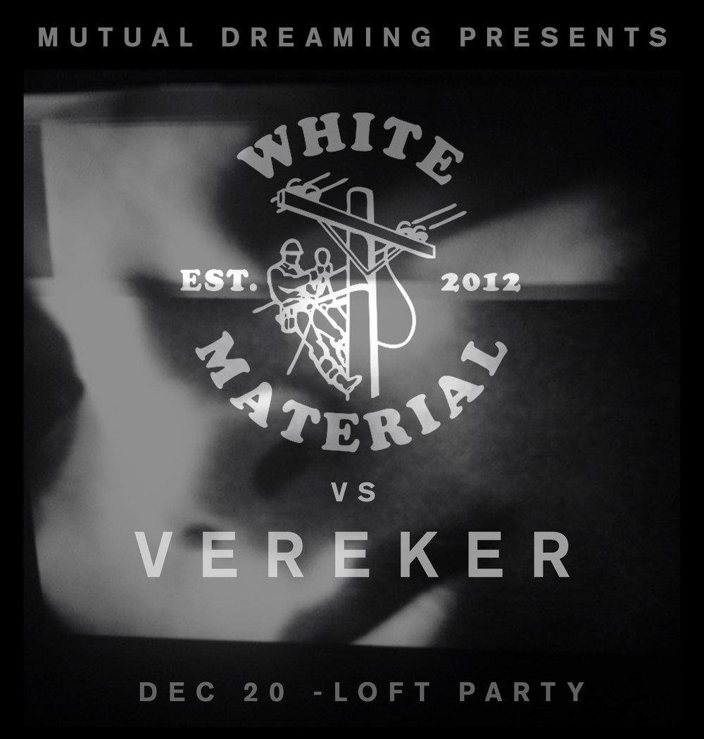 Mutual Dreaming: White Material vs Vereker: Young Male, Galcher Lustwerk, Vereker, Motiv-A  2013