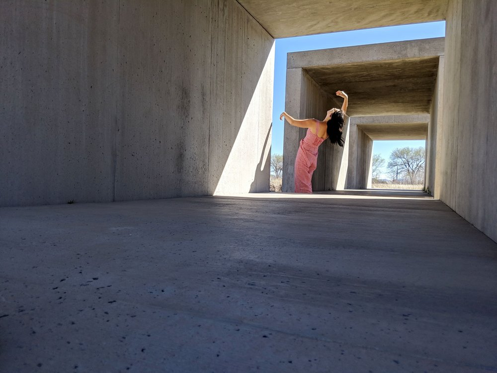 Donald Judd, 15 untitled works in concrete, Wednesday - Sunday, 9am - 4:30pm (free)  The cast concrete blocks run along the border of Chinati in various configurations and form, blending in the landscape and changing with the light throughout the day.