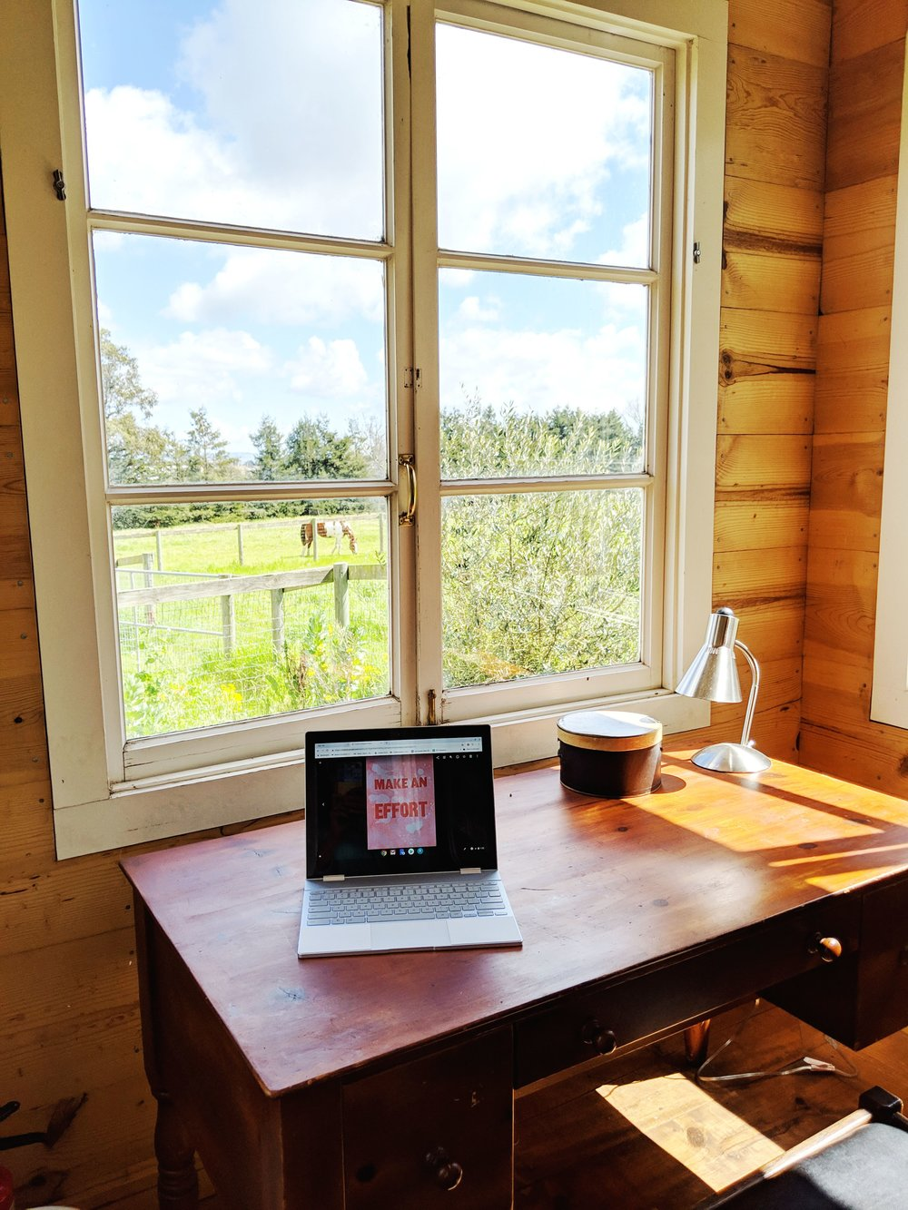View from the Writing Cottage