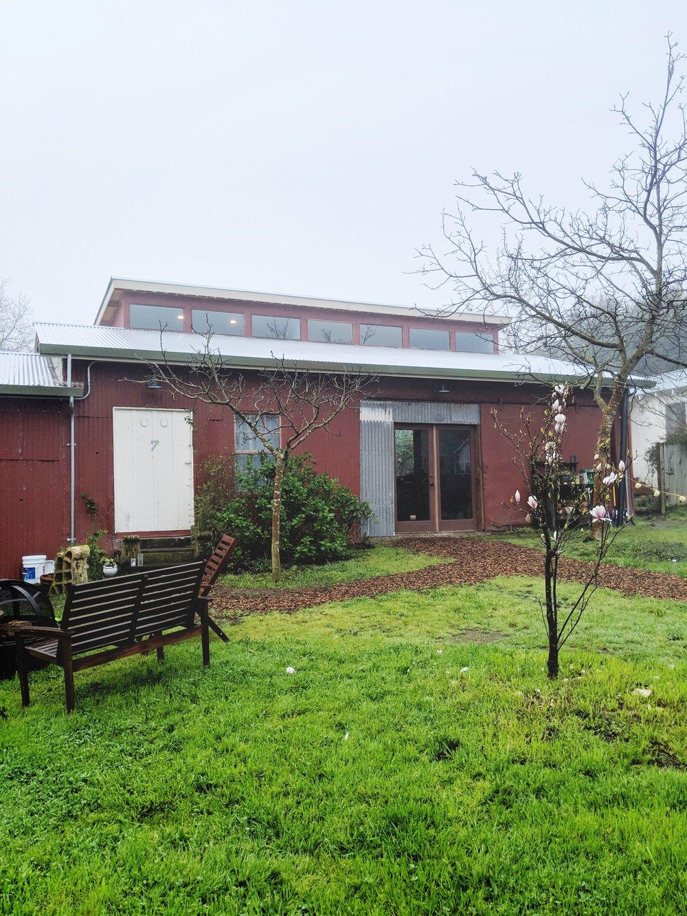 Barn turned printmaking studio
