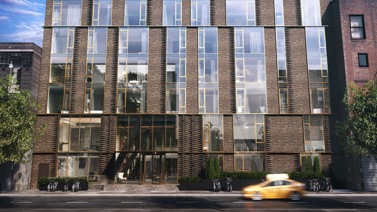 Designed by ODA Architects, this 2-tower development exhibits a dark masonry exterior and offers studio to 4 bedroom residences priced between $895K and $4.59MM. The building is situated at 505 West 43rd Street and has the architectural influence of Hell's Kitchen, giving a bustling neighborhood to its residents.       The interiors are the view of Escobar Design and feature spacious floor plans, luxurious master bedrooms, oak floorings, and penthouse layouts.    The kitchens are sleek and equipped with high-end appliances by Bosch & Thermador. This high-profile refuge with a contemporary design also offers a wide range of amenities, which include a lobby, pool, courtyard, gym, kid's room, lounge, and bike storage, ensuring a convenient and elegant lifestyle for residents, befitting the true definition of modern living.     CITY REALTY ARTICLE     505 West 43rd Street is a pair of post-war condominium buildings in Manhattan's Midtown West neighborhood finished in 2018. Situated at 505 West 43rd Street, between Tenth Avenue and Eleventh Avenue, the development contains 123 units and rises 16 stories. The elevatored buildings' amenities include: lounge/library, roof deck, courtyard, pool, children's playroom, fitness center, bike room and terraces / balconies.    CONTACT US FOR MORE INFORMATION ABOUT THIS AND OTHER NEW DEVELOPMENTS IN NYC, BROOKLYN & QUEENS!