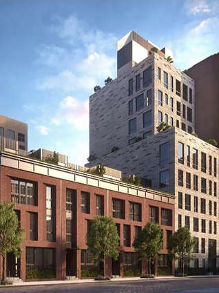 Developed by Property Markets Group and flaunting the architecture of Andrew Kotchen and WORKSHOP APD, this 10-storey building with 5 adjoining townhouses is a new condominium and townhouse development. Located in the intimate and desirable neighborhood of West Village, this building features open, gracious residences enveloped in charm, history, and style. The interiors showcase hardwood floors, oversized windows and open, airy, sunlit layouts that boast of a convenient, premium and luxurious living in New York City. The high ceilings and terrace complement the generously spaced rooms, with the walk-in closets adding a tinge of whimsical detail. The kitchens are custom-made, with a dishwasher, Glass Backsplash tiles, island, stainless steel appliances and wooden cabinetry. A robust amenity package features a gym, parking, laundry service, roof terrace, wine cellar, pet-friendly atmosphere, steam room, and fitness center.    THE REAL DEAL ARTICLE     After a thumbs-down from the local community board, Property Markets Group scaled down its condominium and townhouse project at 111 Leroy Street, and the developer has just released new renderings.      The Kevin Maloney-led firm originally planned a 125-foot-tall, 12-story building with 30 units at the site. After Community Board 2 rejected that design, the firm decided to move forward with a 10-story, 12-unit condo and five adjoining townhouses.       The five townhouses get shorter as they approach the corner of Greenwich Street, according to 6sqft. Twenty percent of the units will be affordable. The original plans also called for an LGBT center, but PMG will instead build a five-story building that will have senior supportive housing.      PMG's project is a stone's throw from Ian Schrager's 49-unit, 142,000-square-foot condo project at 160 Leroy Street.      PMG is also developing an ultra-skinny, 1,400-foot-tall tower at 111 West 57th Street in partnership with Michael Stern's JDS Development Group. [6sqft] — Dusica Sue Malesevic     CONTACT US FOR MORE INFORMATION ABOUT THIS AND OTHER NEW DEVELOPMENTS IN NYC, BROOKLYN & QUEENS!