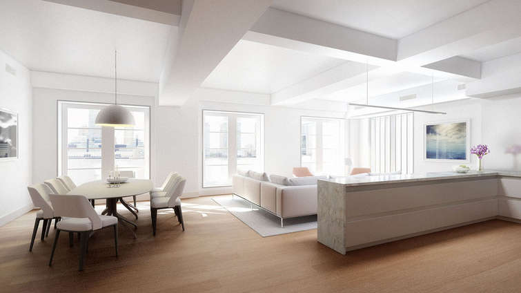 """Destined to become one of the most artisanal boutique building in Tribeca, 456 Washington is known to have even simplex apartments and one penthouse duplex, ranging from 2,000 square feet to 4,000 square feet.  Expanding into a 10-story building from five stories, the property is backed by Tech Mogul Arthur Becker and features a landscaped interior courtyard, fitness center powered by NYC's favorite Equinox, a well-stocked library with an outdoor terrace and a resident lounge with a full-service kitchen and a luxurious dining area.    THE REAL DEAL ARTICLE    Tech mogul Arthur Becker's been the quiet money behind some of the city's biggest developers, including Michael Stern, Kevin Maloney and Robert Gladstone. But this time, he's putting his own name on a condominium project.    According to an offering plan filed last week with the New York State Attorney General's office, the investor-turned-developer is planning an eight-unit building at 465 Washington Street in Tribeca, with a projected sellout of $52.5 million.    In an interview at his art studio next door, Becker told The Real Deal that 465 Washington will be an """"artisanal, boutique building"""" with interiors designed by Paris Forino.    CONTACT US FOR MORE INFORMATION ABOUT THIS AND OTHER NEW DEVELOPMENTS IN NYC, BROOKLYN & QUEENS!"""