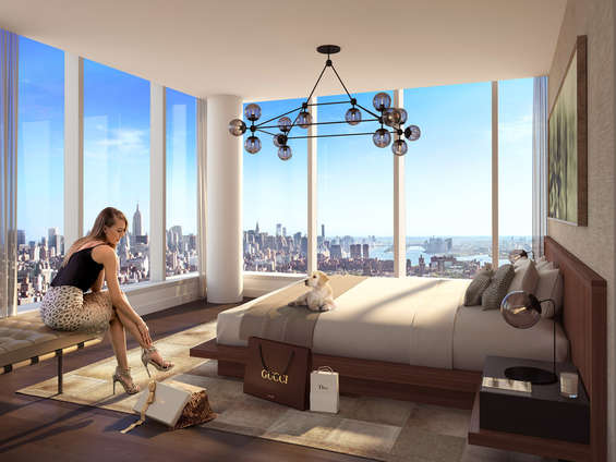 "The 800-foot-tall modern glass condominium tower located on the edge of the New York Harbor on the Lower East Side, One Manhattan Square has all the luxuries, comfort and glam one could wish for. Currently,this beauty has active units starting at $1.22MM with tax abatement50% of 3% commission paid at contract signing.  Meyer Davis, the award-winning studio behind world-class hotels, elite private homes and Oscar de la Renta's flagship retail boutiques, has designed residences that rival five-star resorts. The luxurious interiors are a joy to live in combining style, comfort and function.   Each kitchen is equipped with custom cabinetry, Miele premium appliances and Dornbracht fittings – accented by a stainless-steel mosaic backsplash, back-channel with integrated storage and stone bartop with options available for dark and light scheme. In a nutshell, the designer has put in everything to make the property a grand project.  The amenities include unlimited luxury offers like sports club, entertainment and recreation for adults and children, 7 kinds of spa options, private motor court, a grand lobby, and 24-hour doorman and concierge. Schedule a tour to make this property your home.   CITY REALTY ARTICLE    The Lower East Side has been a vast and wide, low- and mid-rise, residential swath hugging the East River for decades until Extell Development decided to erect this 811-foot-high condominium apartment tower in 2015 just to the north of the lovely, 330-foot-high, Manhattan Bridge.      The elegant tower, whose address is 252 South Street one block north of the bridge, is known as One Manhattan Square.     Confucius Plaza, a curved, brown-brick, 44-story, apartment tower designed by Horowitz & Chan on the south side of the bridge several blocks inland, has been the tallest structure on the Lower East Side since it was erected in 1976.     Extell's new tower will be about twice as high with about 80 stories.  While it falls short of the arbitrary, 1,000-foot-plus minimum height for a ""SuperTall,"" its undeniable ""stand-aloneness"" when announced and very high visibility certainly make it ""Super.""      Extell is no stranger to ""SuperTalls"" as its 1,004-foot-tall mixed use tower, One57, designed by Christian de Portzamparc, at 157 West 57th Street, was the first of the very tall skyscrapers to sprout along 57th Street on what has become known as ""Billionaire's Row.""     With 811 rental apartments, this tower is certainly not a minor player in the city's residential sweepstakes and since its announcement it has been joined by several other, nearby very high-rise projects that promise to make this area one of the city's most dramatic, and most isolated, very-high-rise clusters.  They are in the Two Bridges neighborhood between the Manhattan and Williamsburg bridges.     One Manhattan Square is due for completion in the third quarter of 2018 and its ""poor door"" smaller ""affordable,"" 205-unit building at 229 Cherry Street is due for completion in 2018.     The other new very tall towers include the very handsome, 1,000-foot-high, 639-unit, green-terracotta building at 247 Cherry Street planned by JDS Development Group and designed by SHoP Architects, the same team that is developing the 1,427-foot-high, very skinny tower at 111 West 57th Street.  JDS bought about 500,000 square feet of air rights for its project for more than $50 million from the Settlement Housing Fund and the Two Bridges Neighborhood Council.  The 77-story JDS rental tower, which will have three skydecks similar in massing to the indendations at 432 Park Avenue and the MetLife building straddling Park Avenue, will be one block north of One Manhattan Square.  The five-sided JDS tower will be partially cantilevered over the 10-story residential building at 80 Rutgers Slip.     A block closer to the East River, L and M Development and the CIM Group plan two taller towers with a total of 1,350 apartments of which 25 percent will be ""affordable"" on a site at 260 South Street two blocks further north.  The taller of the two towers, both designed by Gary Handel, will be about 800 feet tall.     In December, 2016, the Starrett Corporation plan another a 62-story tower at 259 Clinton Street on a two-story podium between Piers 42 and 35 with ground floor retail one foot above the flood plain in front on the FDR Drive.  This project, which will also have 25 percent of its apartments ""affordable,"" is being designed by Perkins-Eastman very tall tower at 272-283 South Street.     The Chinatown Working Group plan proposed a 350-foot height limitation on new development along the East River but the city's Department of City Planning rejected the plan in February, 2015 and a spokesman for the department was quoted at the gothamist.com as stating that it was ""too vast an undertaking"" and would interfere with the goals of Mayor de Blasio's Housing New York program to erect 80,000 ""below market-rate apartments in the next 10 years.""     In June, City Council member Margaret Chin and others asked the city to create a master plan for the neighborhood in view of the radical increase in building heights of these proposals in comparison with the mid-rise towers of the area's many housing projects.     In August, 2016, the Department of City Planning, however, rejected a request to require JDS, L and M and the CIM Group and Starrett to have their towers go through the Uniform Land Use Review Process (ULURP) that would have required approval from the community board, the borough president and the City Council.  City Planning Commissioner Carl Weisbrod maintained in an August 11 letter that while the changes might be significant for the neighborhood, an astounding understatement, they did not require any new zoning actions or waivers.     All of these towers are ""as-of-right,"" which means that they do not require public review.     That fact is astounding.  These developers have, effectively, ""outsmarted"" the city and community groups.  In a city that has become famous in recent decades for the power of its NIMBY (Not In My Back Yard) groups opposed to new development in their neighborhoods, such an oversight in such a political alert neighborhood.                 Indeed, although the Lower East Side had not flashed super-luxury credentials, One Manhattan Square tower does have some exclusivity despite its vast number of small units: it was initially only being marketed, reportedly, to buyers in Asia with exhibitions in Shanghai, Hong Kong, Beijing, Singapore and Kuala Lumpur.    Adamson Associates Architects (AAI) has designed the glass-clad tower.      Interiors are designed by Meyer Davis.  West 8 is the landscape architect.    CONTACT US FOR MORE INFORMATION ABOUT THIS AND OTHER NEW DEVELOPMENTS IN NYC, BROOKLYN & QUEENS!"