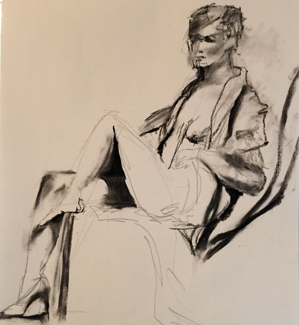sketch in charcoal