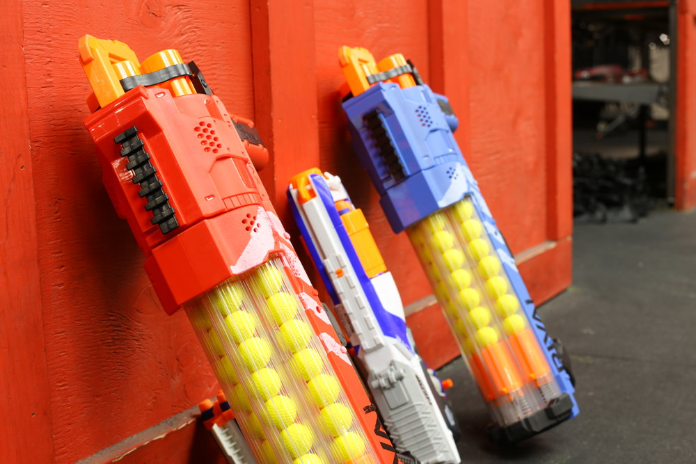 toronto nerf wars red rival blue Elite Ex-3 archers arena nerf combat battle.JPG
