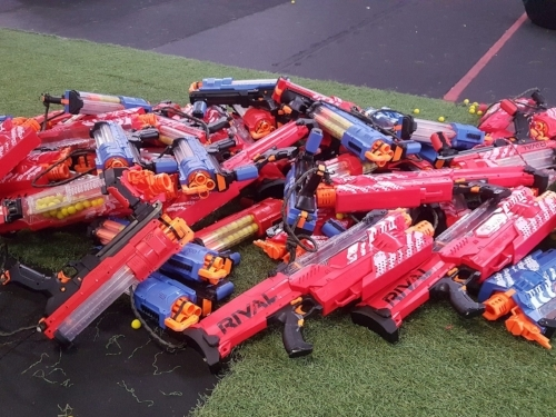 Huge Nerf wars arsenal