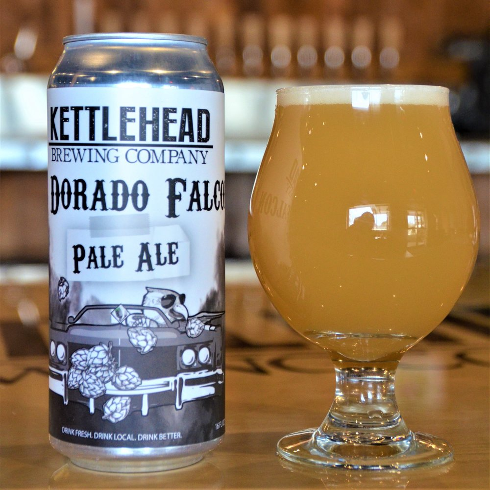 EL DORADO FALCONPALE ALE6% ABV - Not your typical pale ale, this one is hazy and hop forward. Aromas of candied orange and tangerines with a subtle malt character.