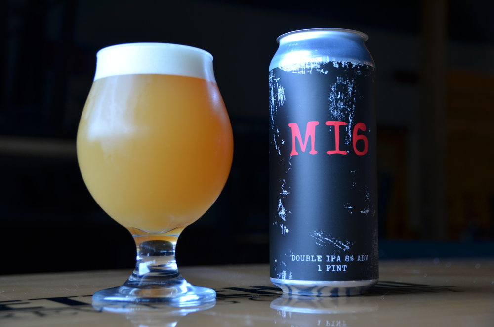 Mi6 DIPA, 8% - The use of hop extract oil and multilabel dry hop additions with Mosaic and Citra lupulin powder leaves double IPA dripping with smooth tropical hoppiness.