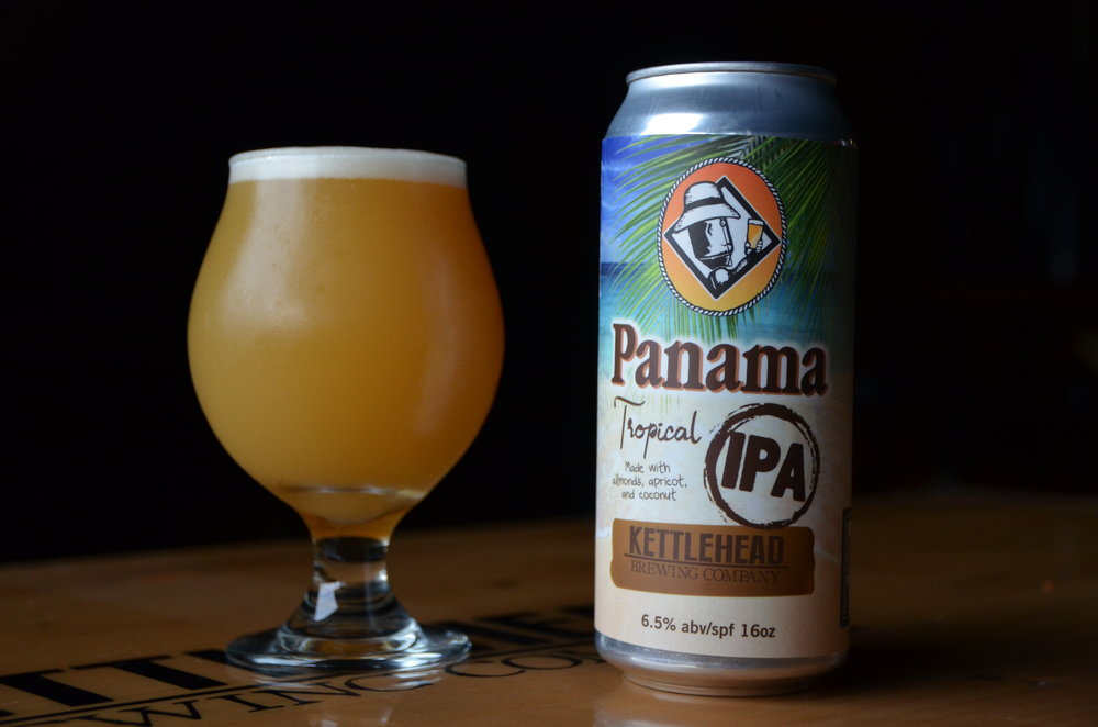 Panama IPA, 6.5% - An island inspired beer, brewed with Almonds, Coconut, Apricot and a mix of juicy hops with flavors of Mellon and citrus.