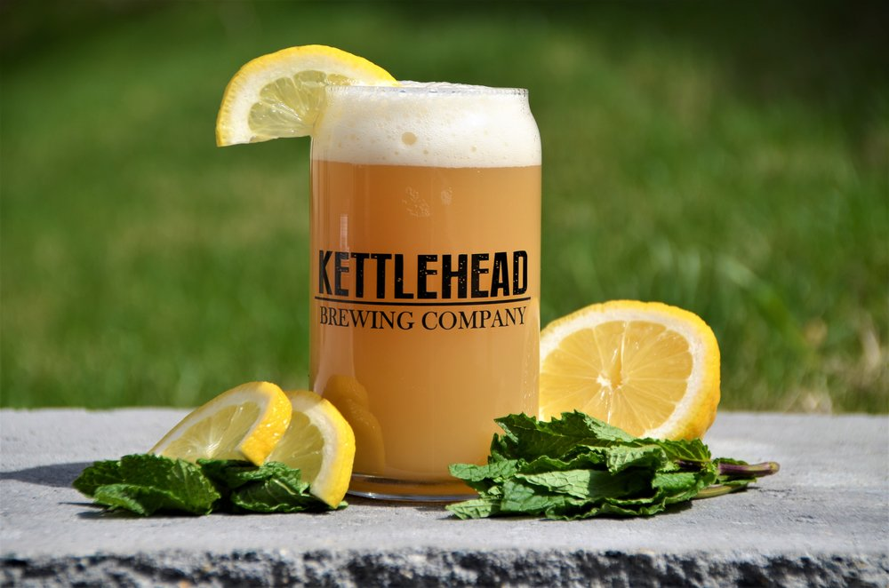 Lemon Mint, Hefeweizen,4% - A wheat ale brewed with lemon mint herb giving a slight lemon and mint character to the beer.