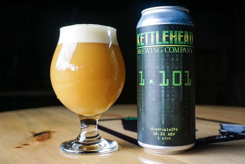 1.101 Quadruple IPA, 12.5% - This is our one year anniversary beer. It's a culmination of all the things we have learned in 1 short year. We took all the hops from our Double IPAs and combined them into this 1 masterpiece. Thanks to all our supporters, friends, and family. Here's to many more years. Thanks again!Cheers!!!November 1 2018original gravity 1.101