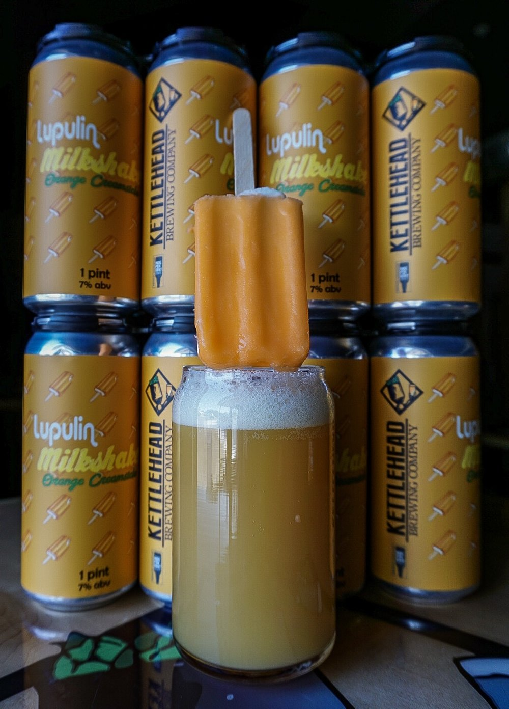 Lupulin Milkshake, Orange Creamsicle, 7% - Fruited with citrus fruits, milk sugar, and vanilla beans. Hopped with Citra, Mandarin Bavaria, and Pacifica hops.