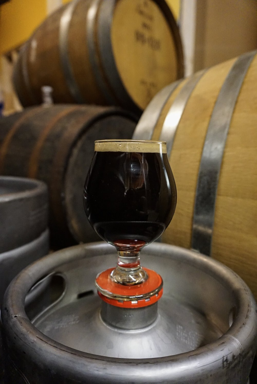 (VEEK)TOR, Russian Imperial Stout, 10.5 % ABV - Barrel aged blend from a bourbon barrel and a rum barrel. Rich and chewy Russian Imperial Stout Goodness.