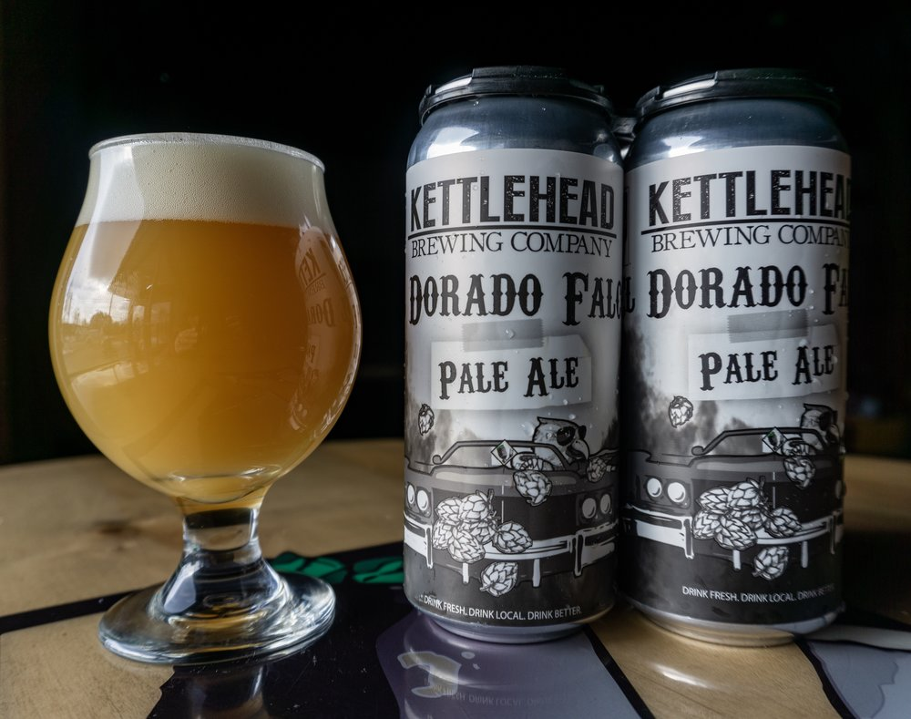 El Dorado Falcon, Pale Ale, 6% - Not your typical pale ale, this ones hazy and hop forward. Aromas of candied orange and tangerines with a subtle malt character.