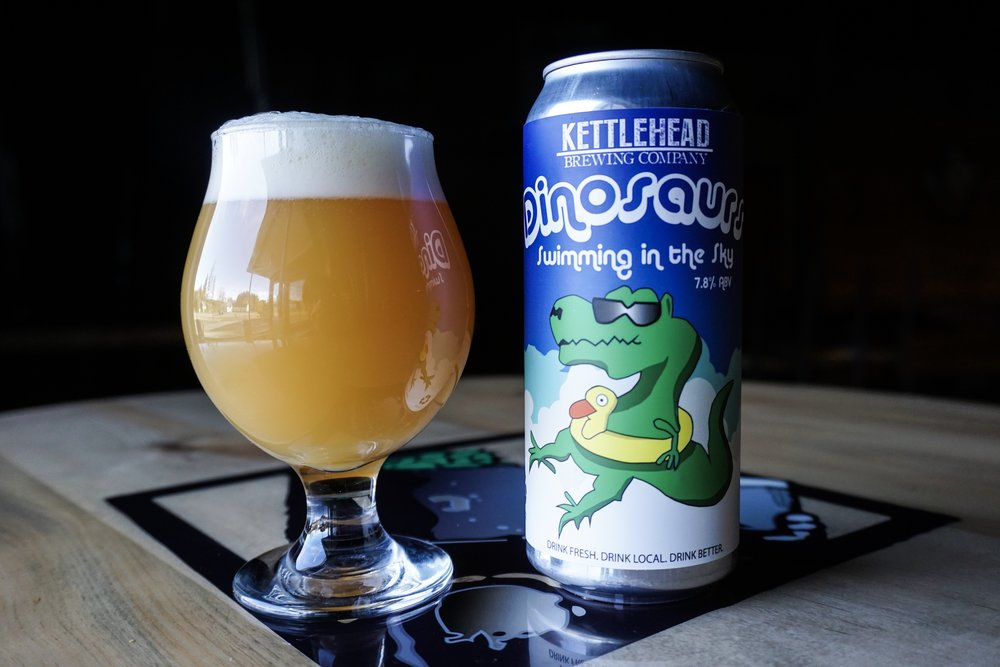 Dinosaurs Swimming In The Sky, DIPA, 7.8% - A double dry hopped imperial IPA. The use of galaxy and enigma hops make this one a beer lovers friend.