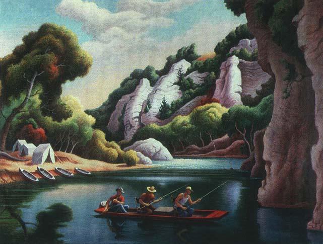 Jon Boat, Thomas Hart Benton, 1973