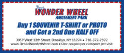 buy 1 souvenir t-shirt  and get a 2nd one half off