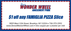 $1.00 off any Famiflia Pizza