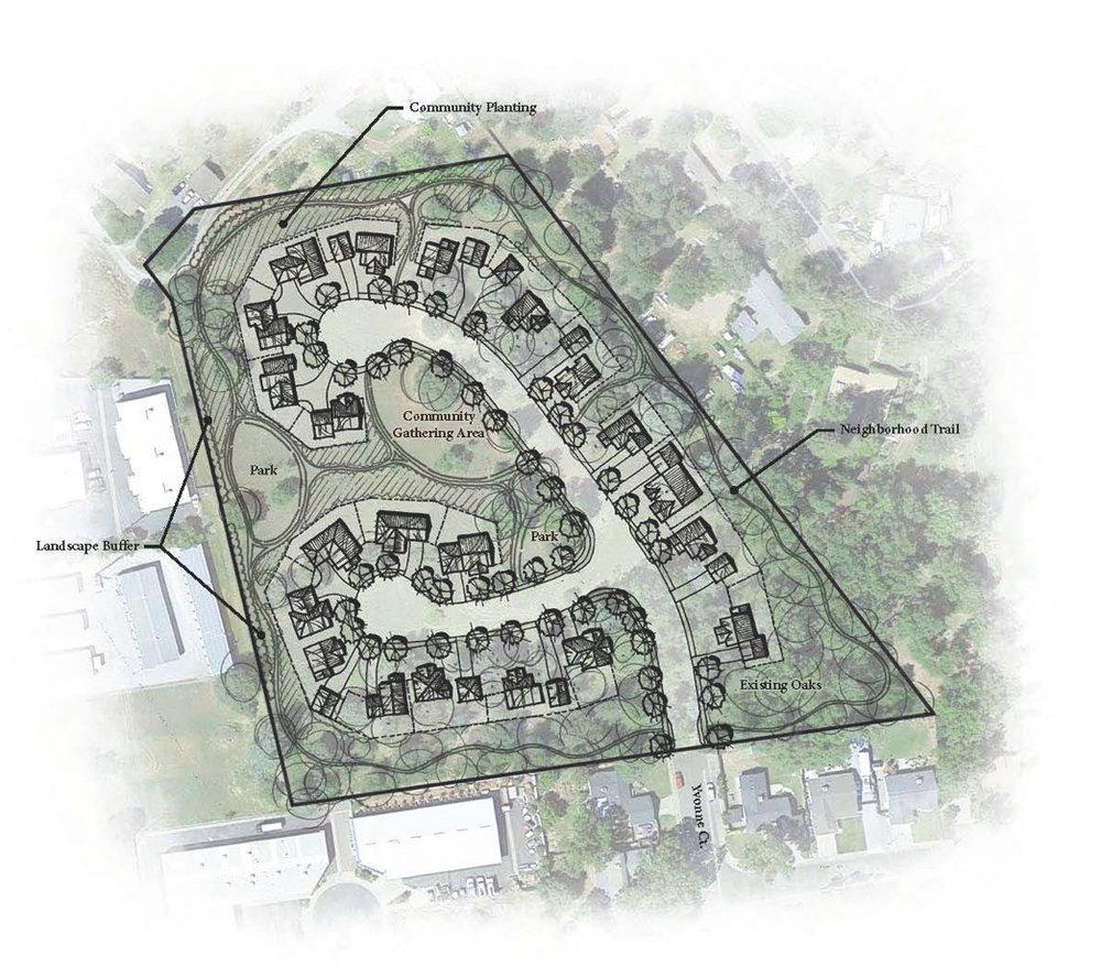 Conceptual Site Plan by  Sharrah Dunlap Sawyer