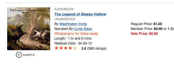 Not sure if this is a good one, but for $.69, it's worth the risk. haha. Link to Audible.
