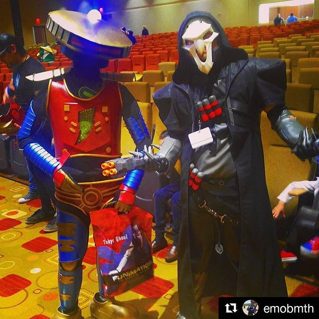 #Repost @emobmth (@get_repost) ・・・ *Shrugs* I guess ur the new Replacement  #blizzardentertainment #overwatch #reaper #alpha5 #mightymorphinpowerrangers #zicon #zicon2017 #edinburg #edinburgtx