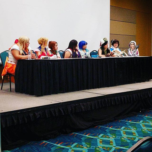 Very talented cosplayers at Omnicon panel!  #omnicon #zicon #panel #cosplay