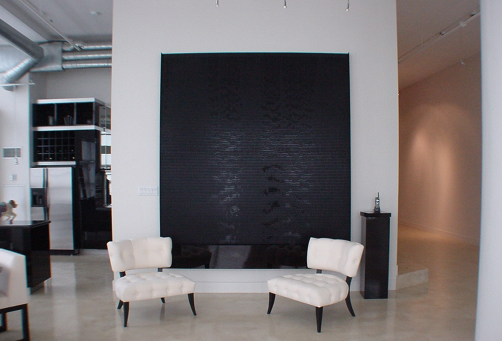Black Acrylic Water Wall