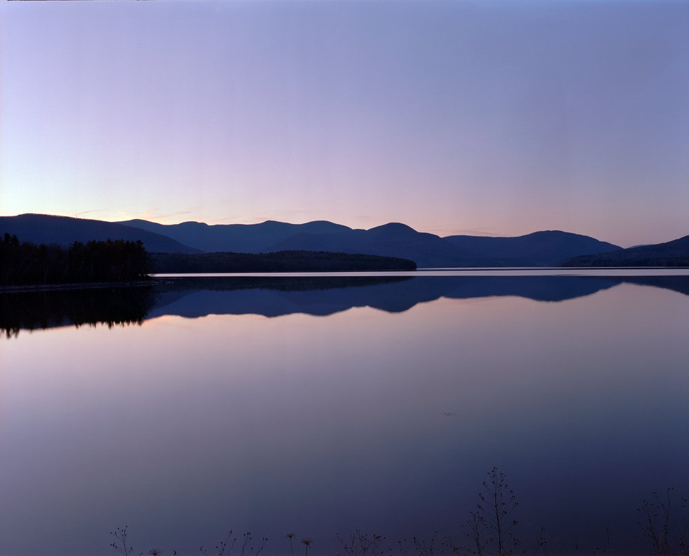 Reflections at Catskill. Mamiya RZ67, 65mm at f/22 1 sec. Kodak Portra 400