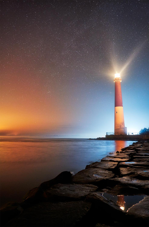 Barnegat Light Under The Stars