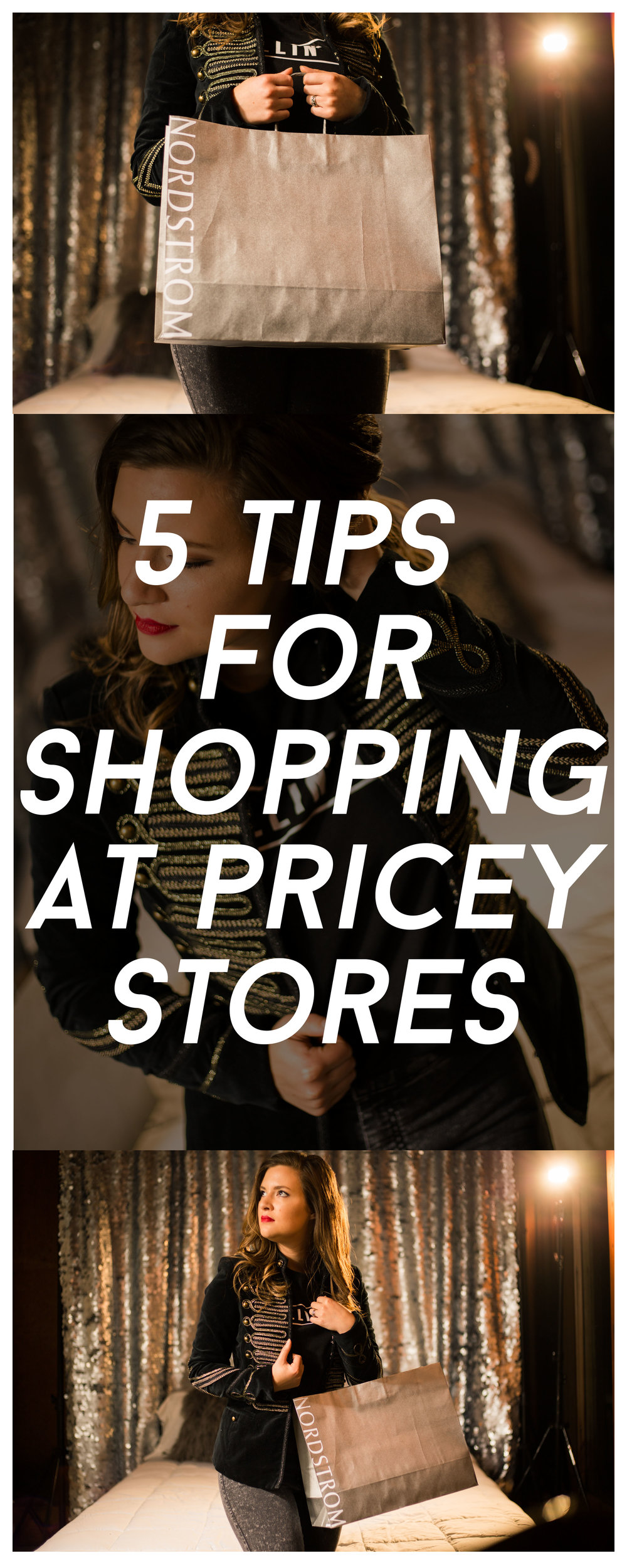 5 Tips for Shopping at Pricey Stores and high end shopping tips