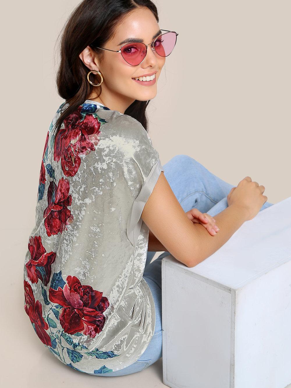 black friday sales shein velvet floral top