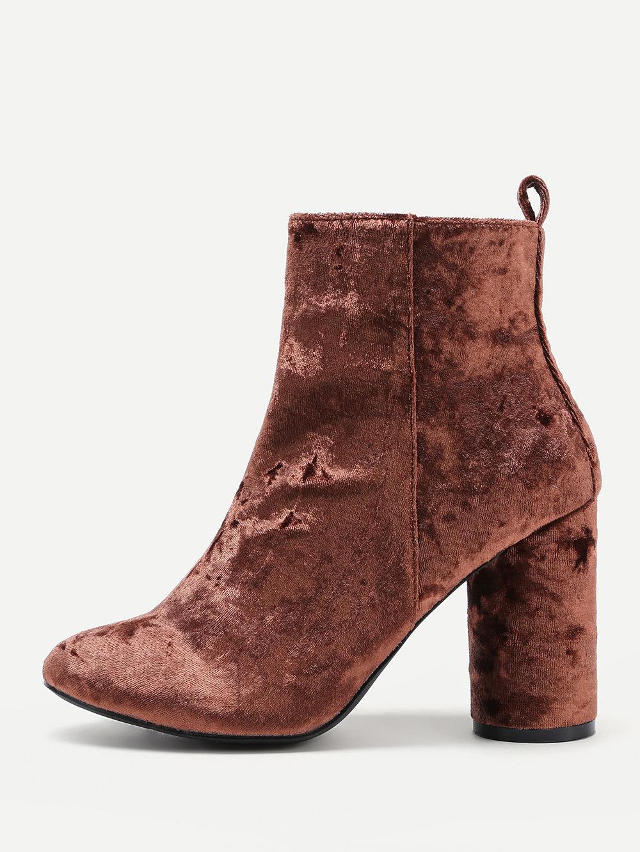 black friday sales shein velvet ankle booties