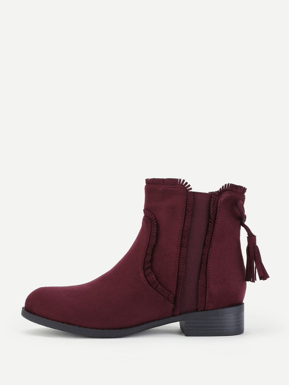black friday sales shein maroon ankle booties