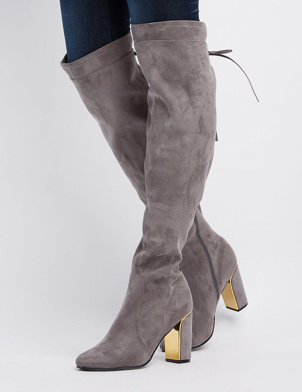 black friday sales charlotte russe otk boots grey gold