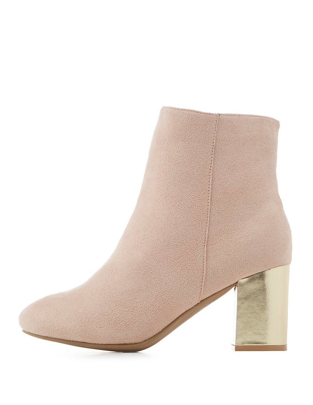 black friday sales light pink gold ankle booties