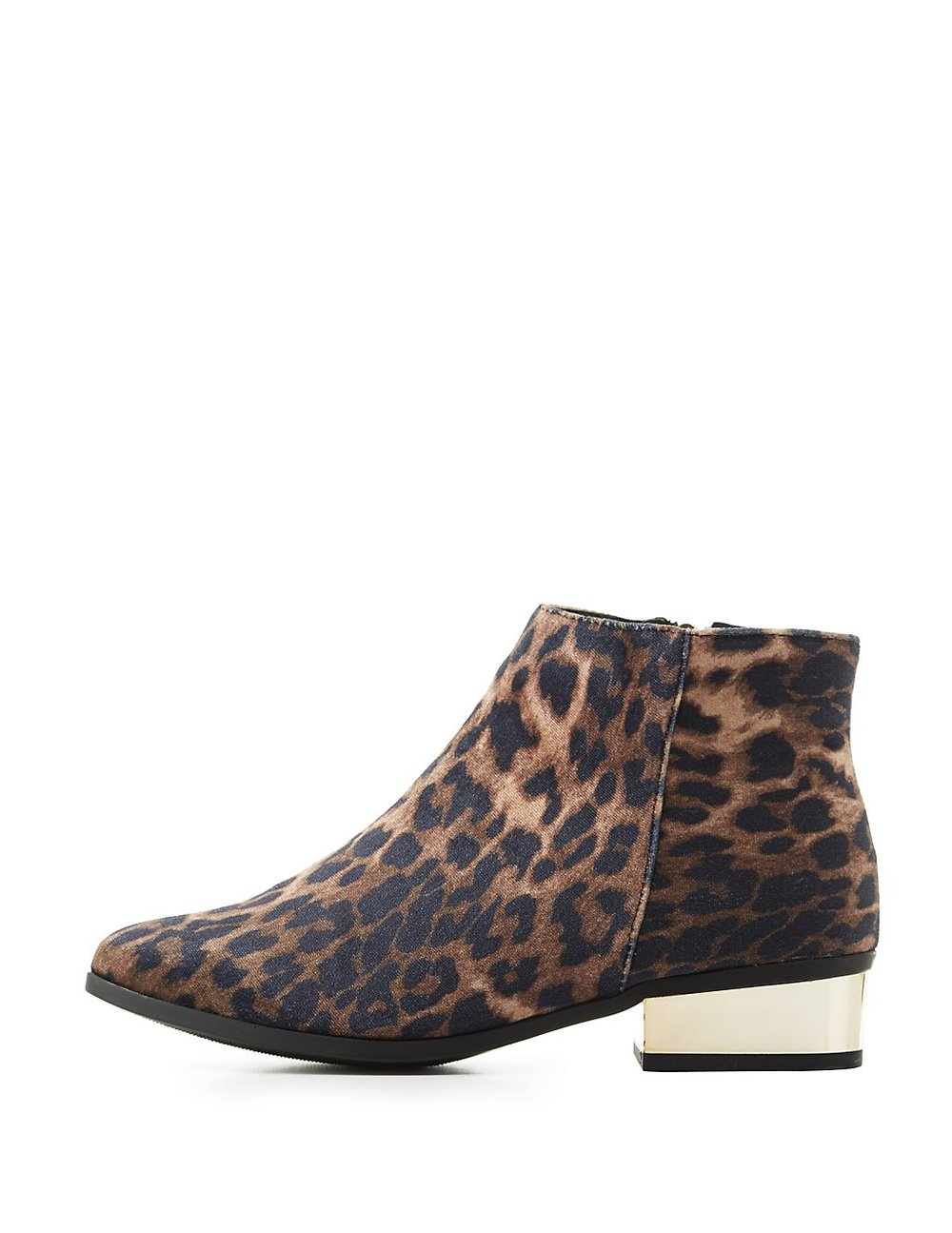 balck friday sales charlotte russe leapord anke booties