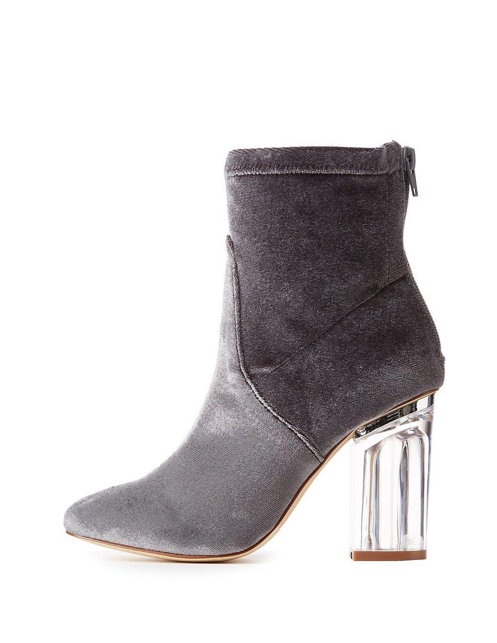 black friday sales charlotte russe grey ankle booties