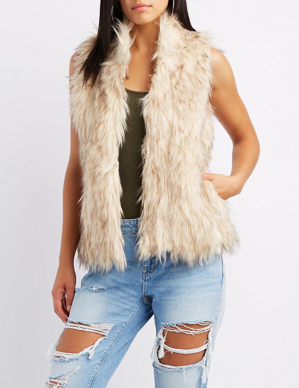 black friday sales charlotte russe fur vest