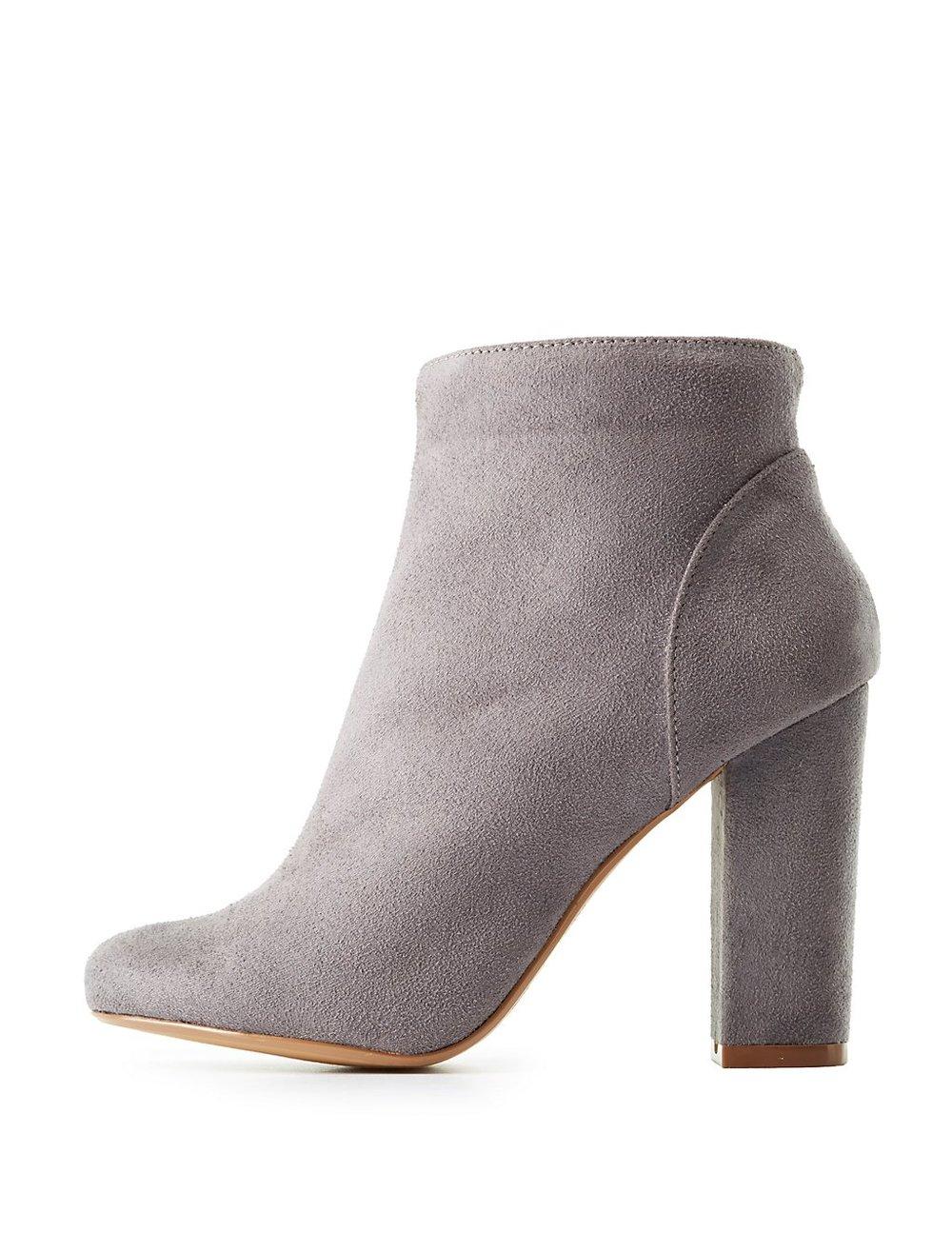 black friday sales charlottle russe heeled grey booties