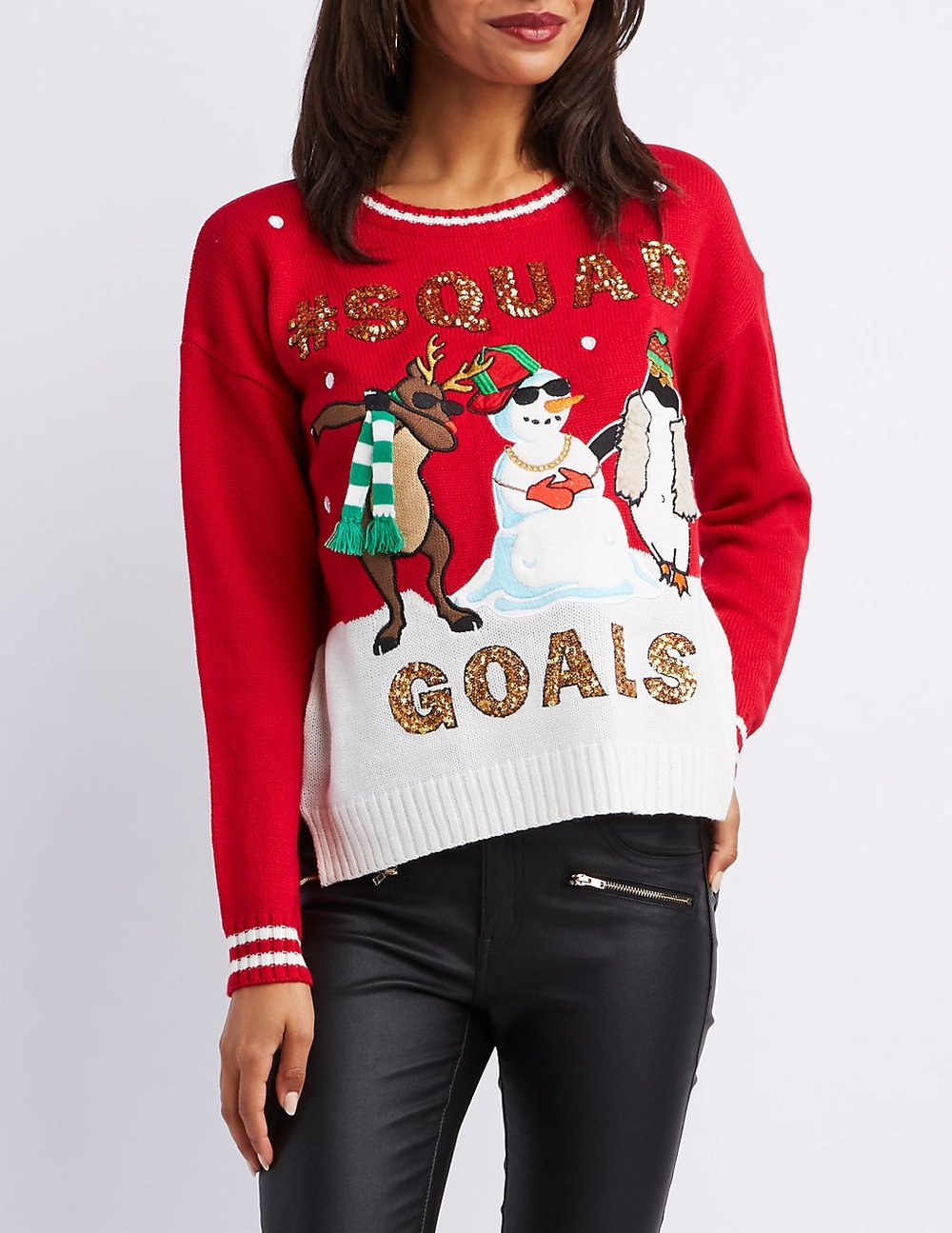 black friday sales charlotte russe squad goals christmas sweater