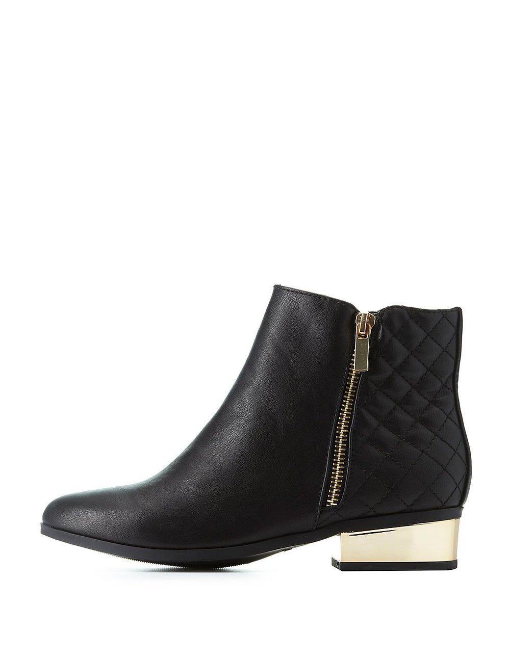 black friday sales charlotte russe leather zip booties