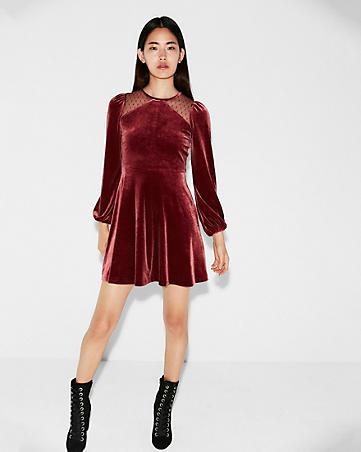 black friday sales express rust velvet dress
