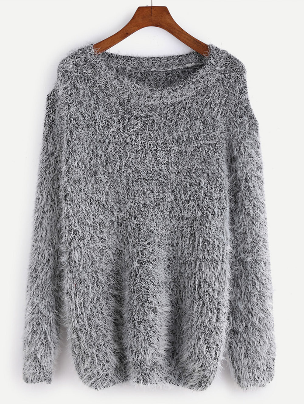 cyber monday sales romwe fuzzy grey sweater.jpg