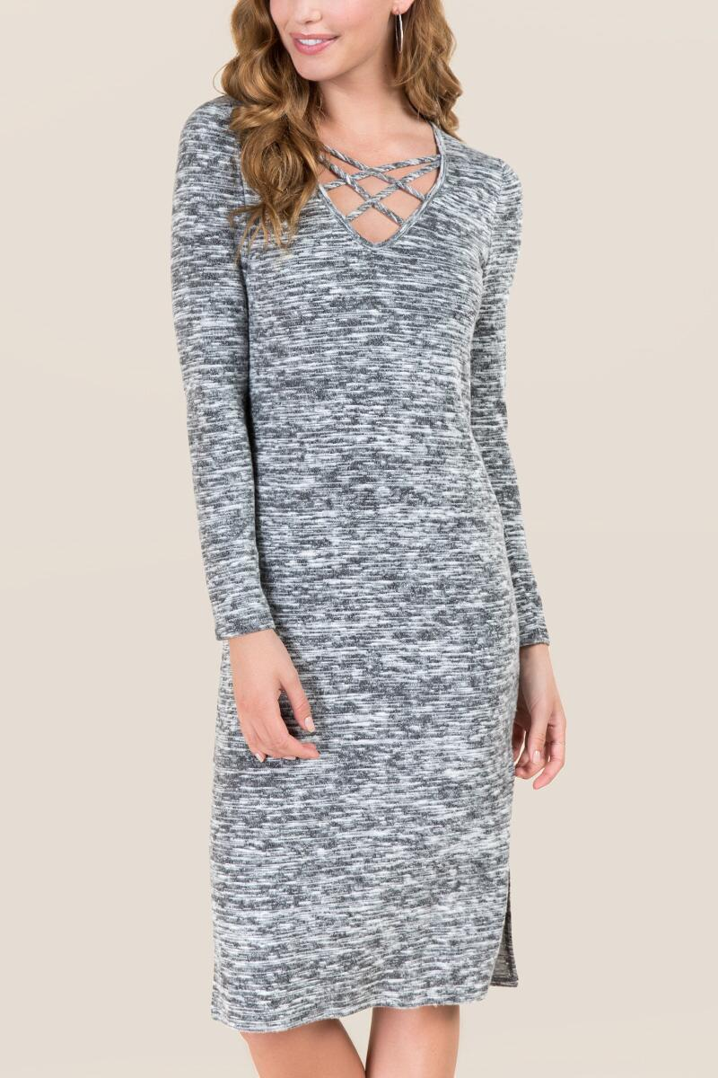 cyber monday sale francescas grey lace up bodycon midi dress.jpg