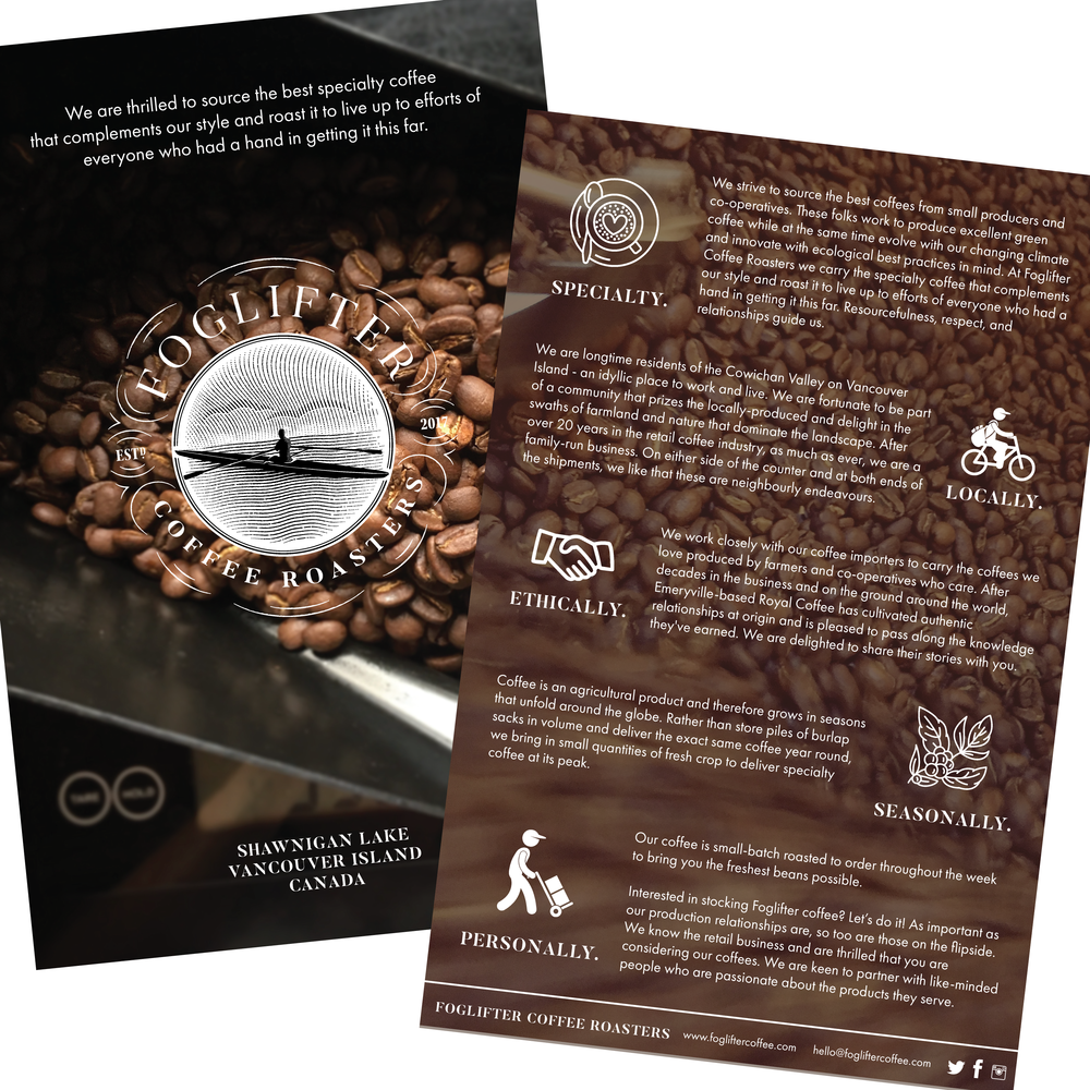 Foglifter Coffee Retailer highlight sheet