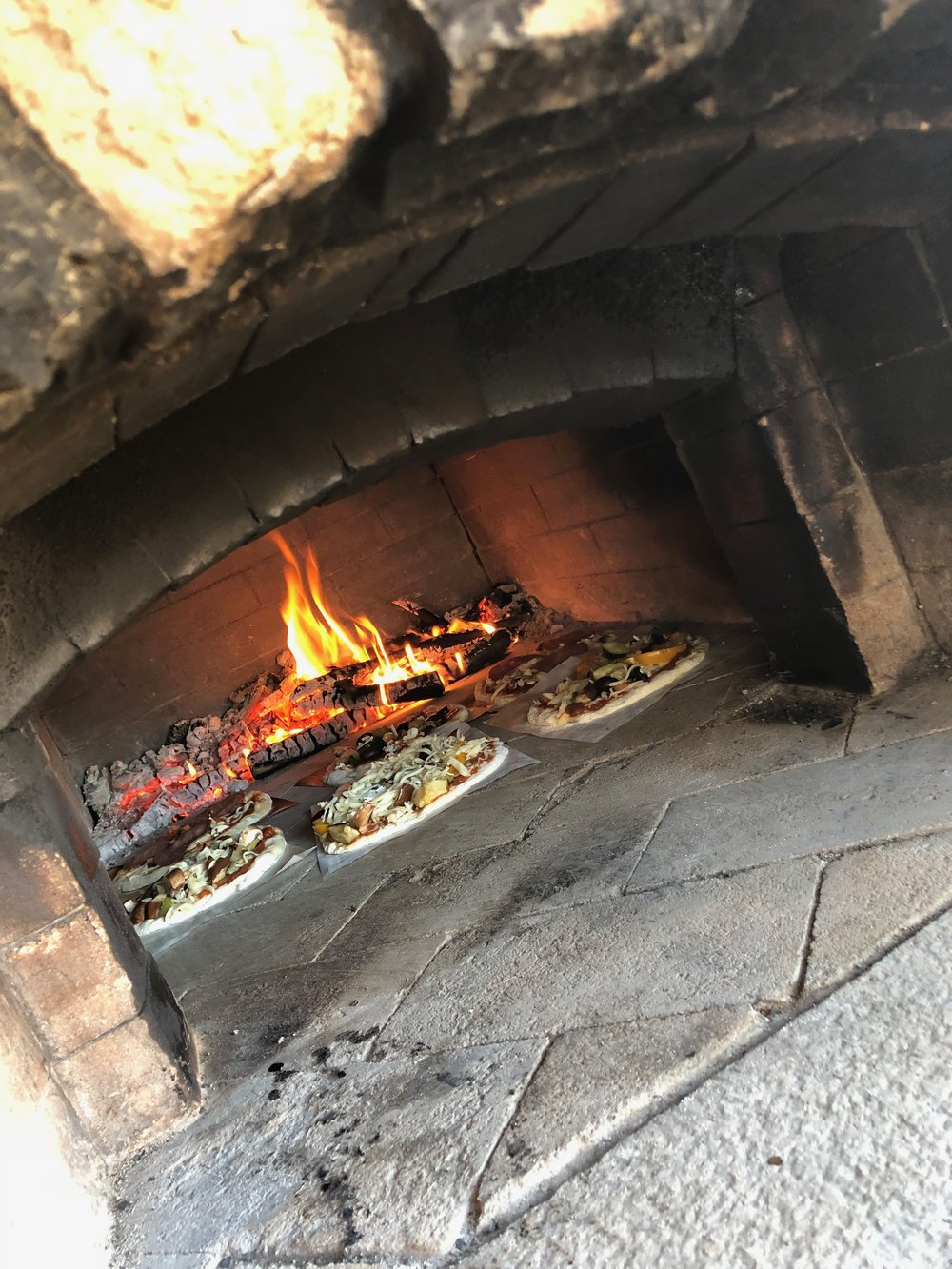 Wood-fired pizza lunch at Seraphina's Oven