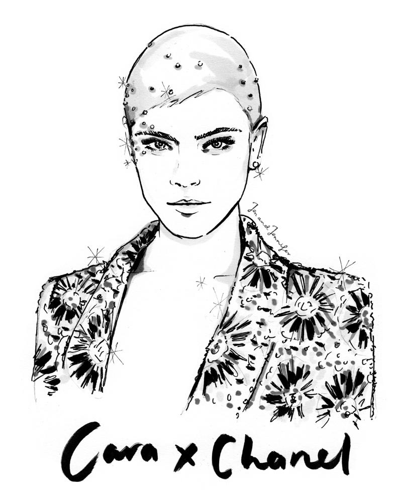 Miss Cara Delvingne in Chanel