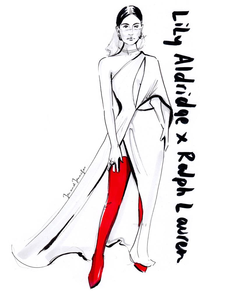 Lily Aldridge in custom Ralph Lauren